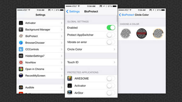 BioProtect - BioProtect : verrouiller ses applications iPhone 5S avec le Touch ID