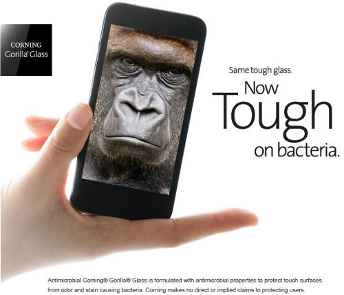 Gorilla-Glass-antimicrobien