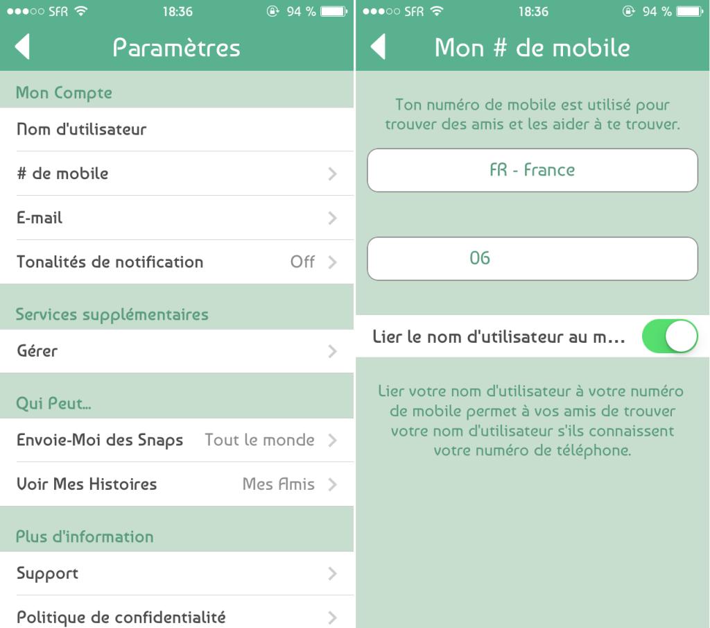 Snapchat 6.1.1 1024x905 - Snapchat : une mise à jour suite au piratage