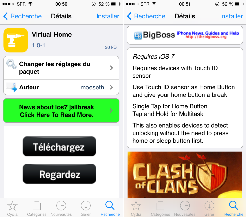 virtual home cydia 1024x905 - Virtual Home : le Touch ID comme bouton home sur iPhone 5S