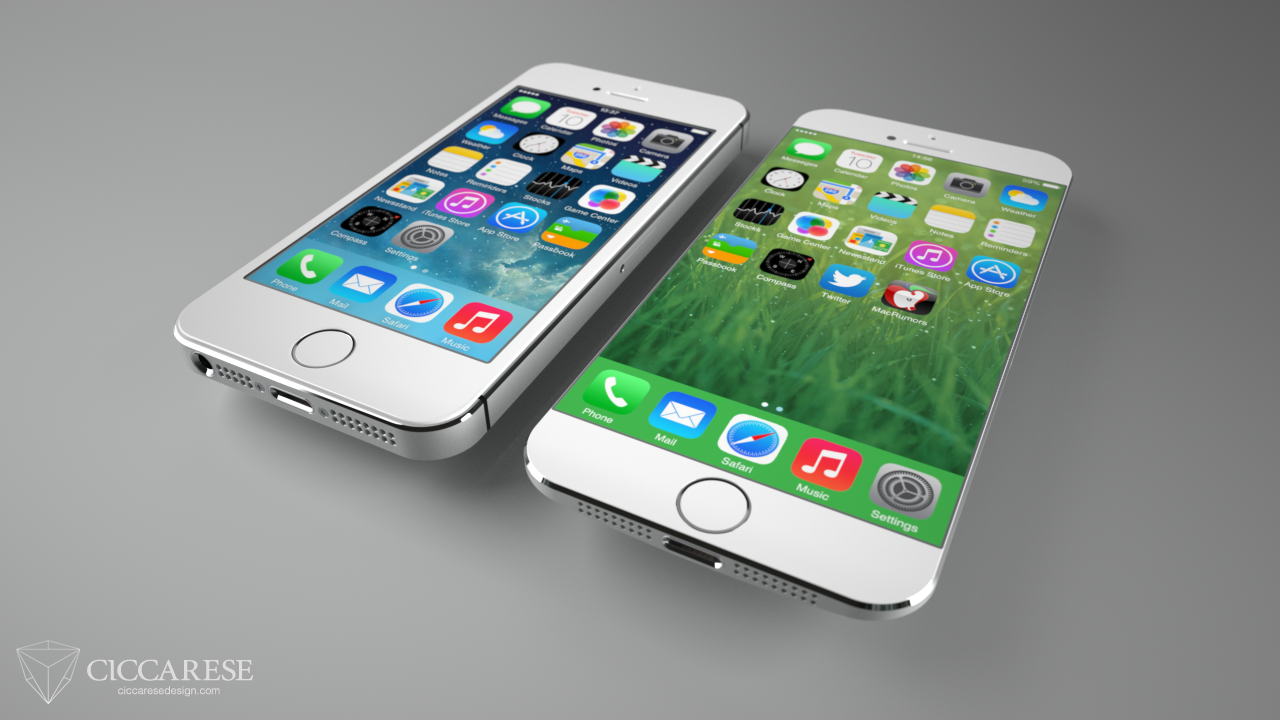 Concept iPhone 6 Ciccarese - iPhone 6 : un design inspiré de l'iPhone 5C et l'iPod Nano ?