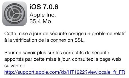 iOS 7.0.6 - iOS 7.0.6 & iOS 6.1.6 (iPhone 3GS, iPod Touch 4G) sont disponibles