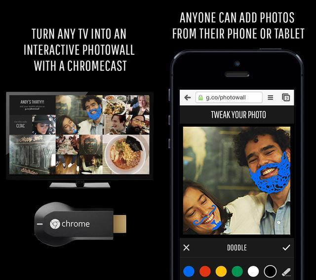 Photowall Chromecast - Photowall : l'application iOS pour Chromecast disponible