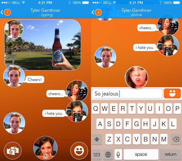 React Messenger - React Messenger : les expressions du visage en guise d'émoticônes