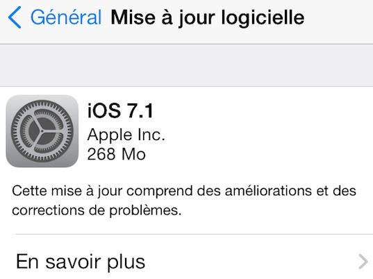 Télécharger iOS 7.1 - iOS 7.1 disponible sur iPhone, iPad, iPod Touch