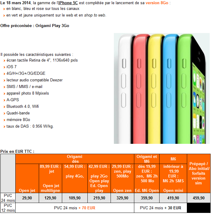 Tarifs-Orange-iPhone-5C-8-Go