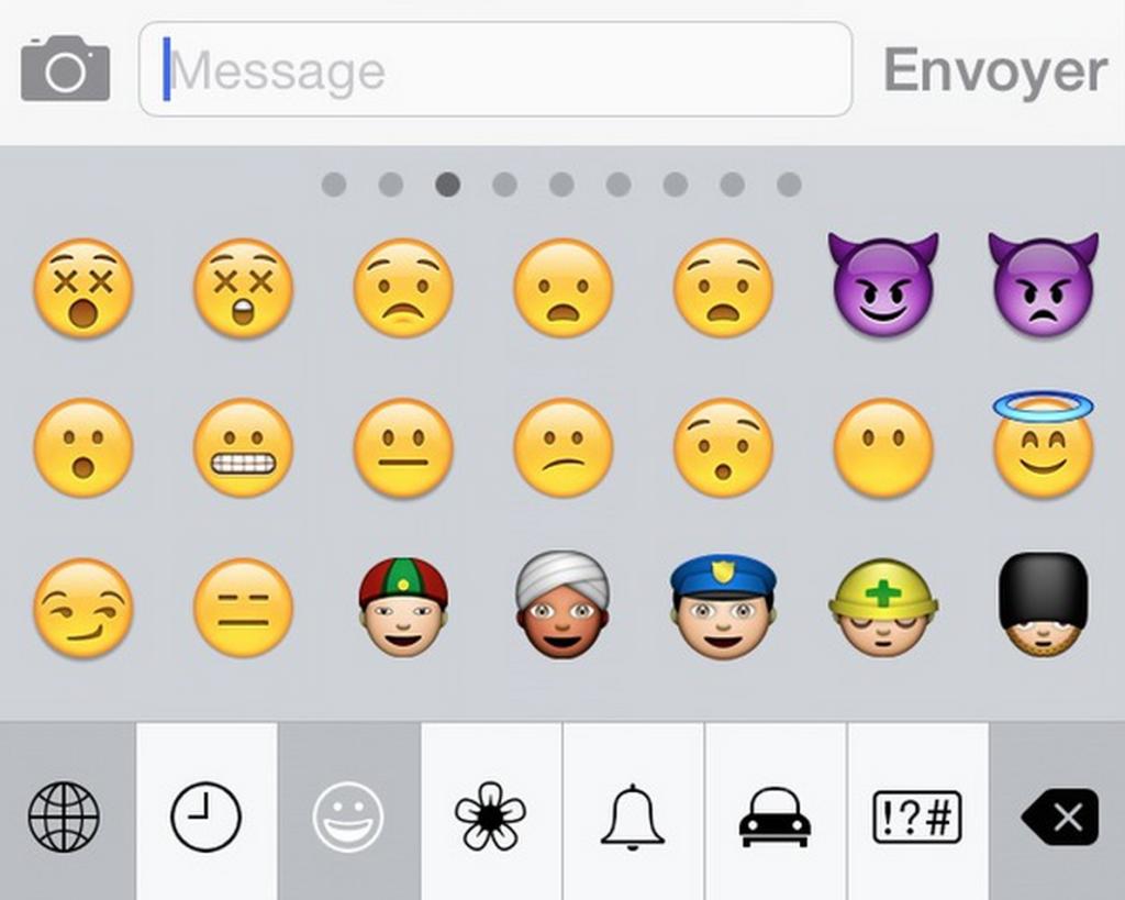 emoticones ios8 1024x819 - iOS 8 & OS X Yosemite : dotés de 250 nouveaux emoji ?