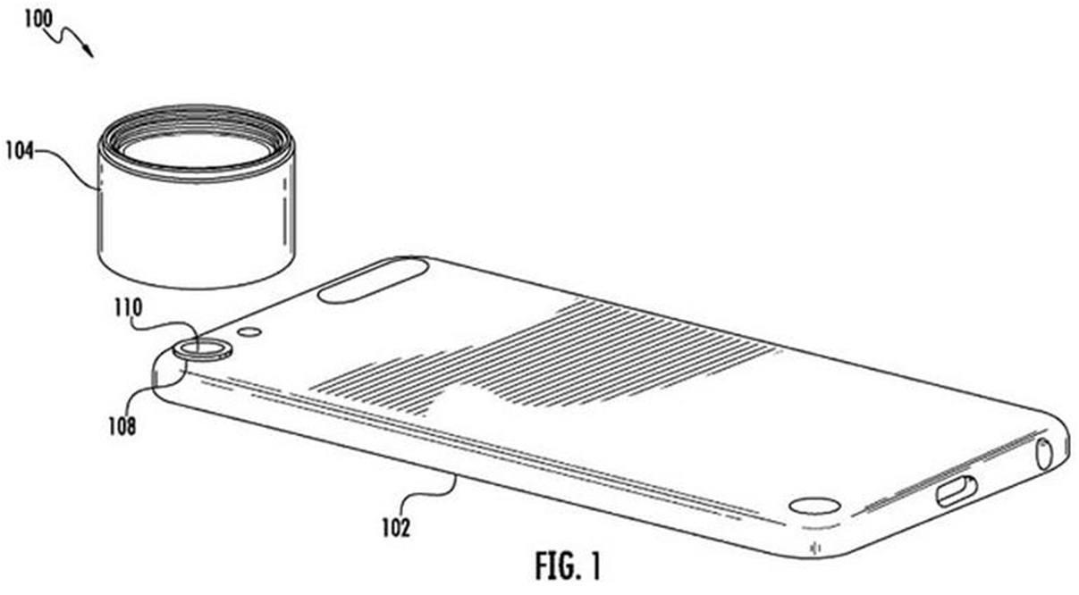 Brevet Apple monture a baionnette iphone - Apple : un brevet pour des objectifs iPhone interchangeables