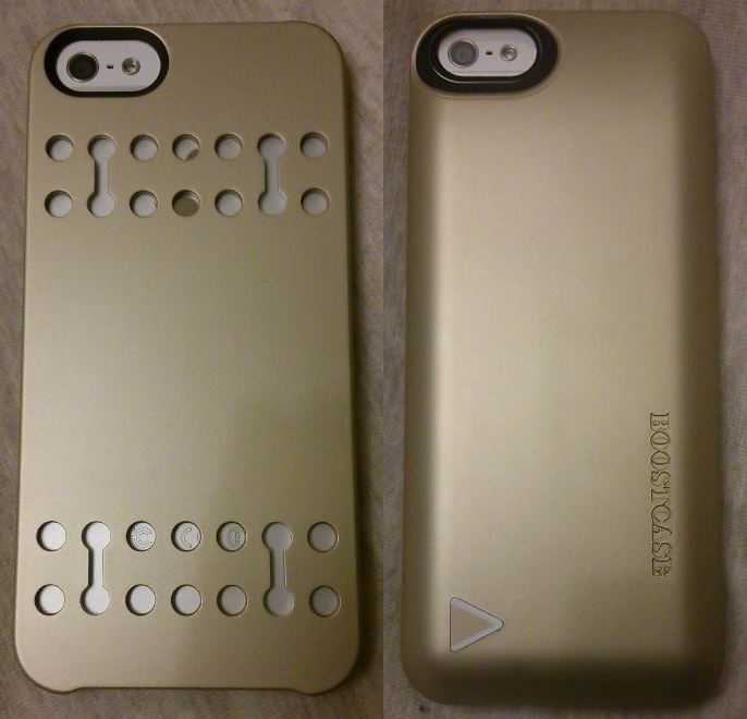 Coque batterie BoostCase Hybrid Champagne - Test : Coque batterie iPhone 5/5S BoostCase Hybrid Champagne