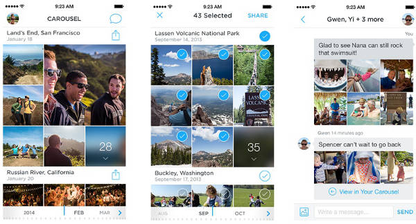 Dropbox Carousel app - Dropbox annonce l'application photo Carousel & Mailbox pour OS X