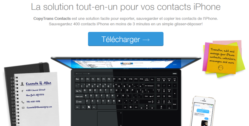Copytrans contacts 1024x518 - Sauvegarder les SMS iPhone sur son PC