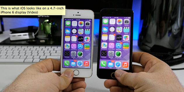 iPhone 6 iOS 7 - iPhone 6 : que donnerait iOS 7 sur un écran 4,7 pouces ?