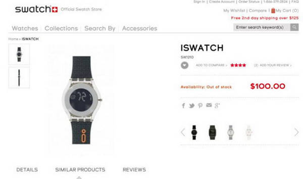 iswatch - Swatch s'oppose à la marque iWatch d'Apple