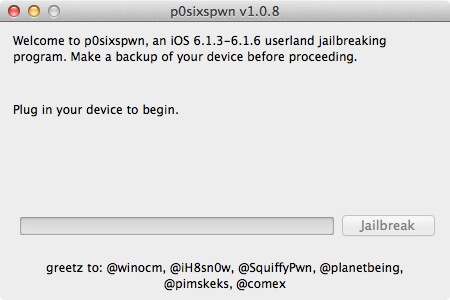 P0sixspwn Jailbreak iOS 6.1.6 - P0sixspwn : Jailbreak iOS 6.1.6 Untethered (iPhone 3GS & iPod Touch 4G)