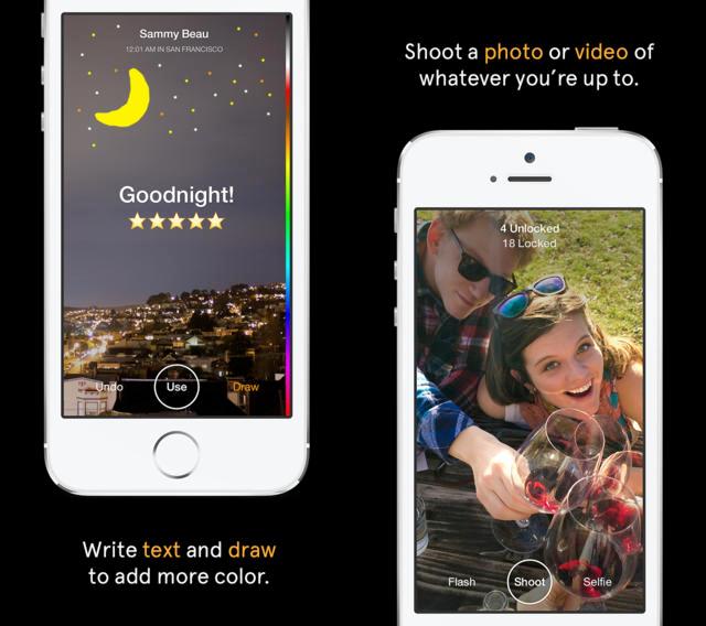 Slingshot iphone - Slingshot : Facebook lance le rival de Snapchat en France