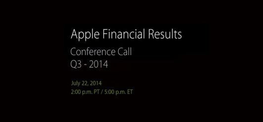 Apple Resultats FInanciers Q3 2014 - Apple : résultats financiers du Q3 2014 pour le 22 juillet