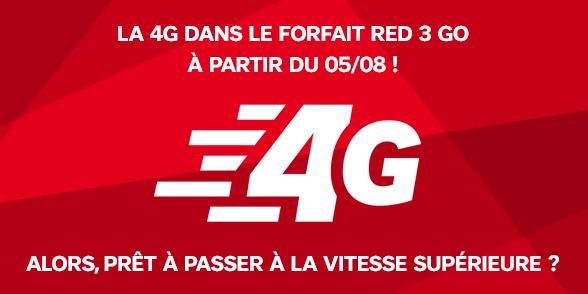 SFR Red 4G 19.99 - SFR RED : la 4G sur le forfait à 19,99€ dès le 5 août