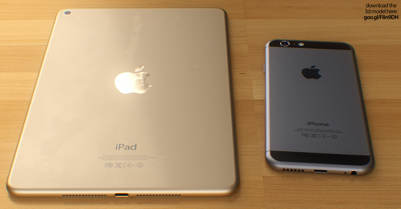 iPad Mini 3 iPhone 6 Concept - iPad Mini 3 : concept avec les bords arrondis de l'iPhone 6