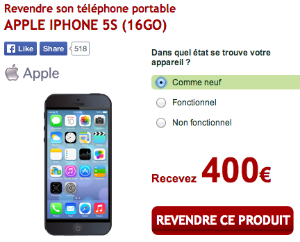 revendre iphone 5s - Love2Recycle : revendre facilement son iPhone ou iPad