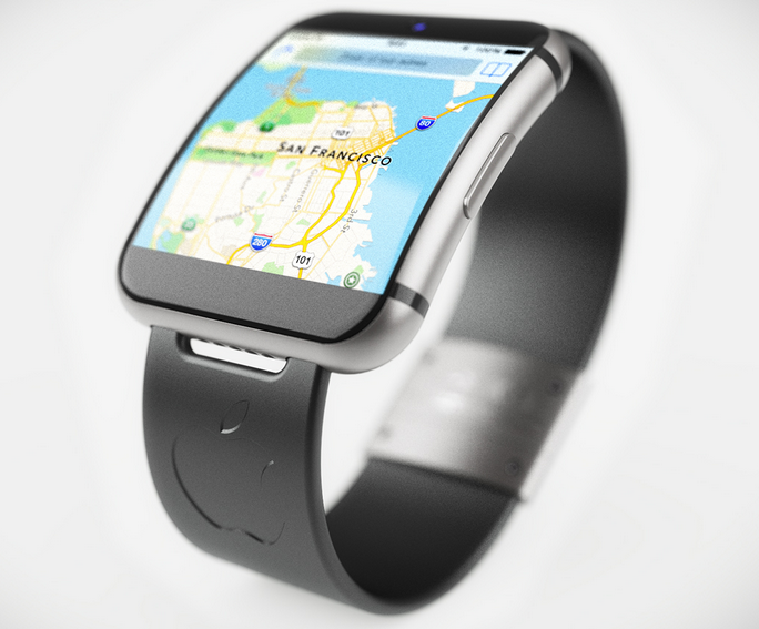 Concept iwatch noire - iWatch : un concept au design iPhone 6