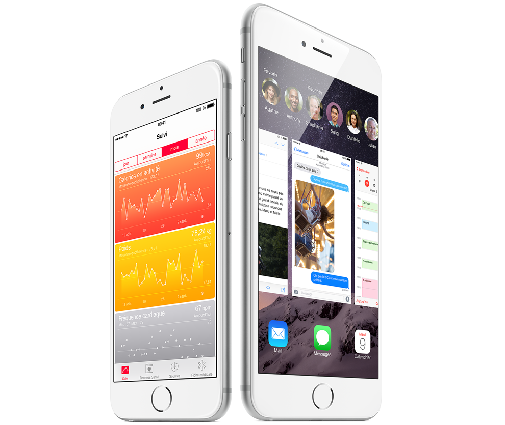 iPhone 6 iPhonne 6 Plus Apple - iPhone 6 vs iPhone 6 Plus : lequel acheter ?