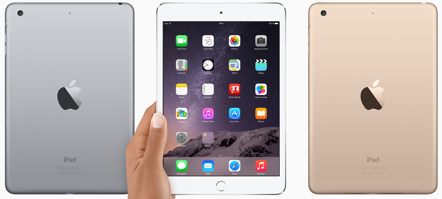 iPad Mini 3 or argent gris sideral -  iPad Air 2 & iPad Mini 3 : pourquoi embarquent-ils une puce NFC ?