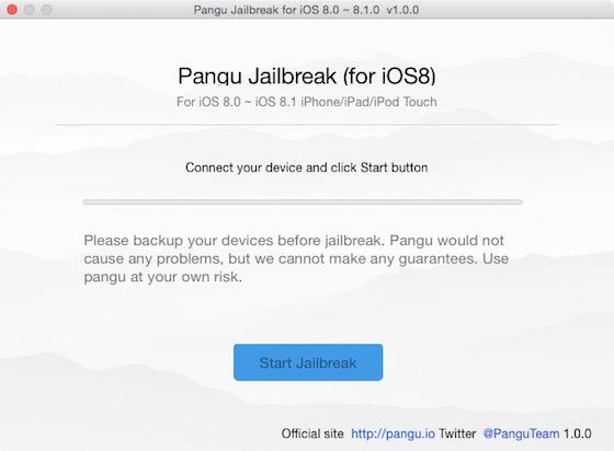 PanGU iOS 8 OS X - Jailbreak iOS 8 & iOS 8.1 : PanGu disponible sur Mac