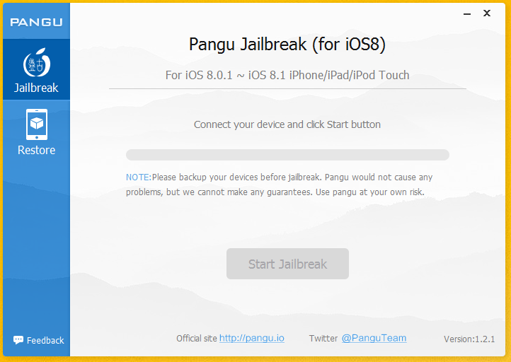 Pangu 1.2.1 Jailbreak iOS 8 - Tutoriel : Jailbreak iOS 8 & Jailbreak iOS 8.1 avec PanGu (Windows)