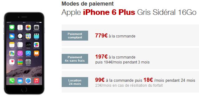 iPhone 6 plus location free mobile - Free Mobile : l'iPhone 6 Plus disponible à la location