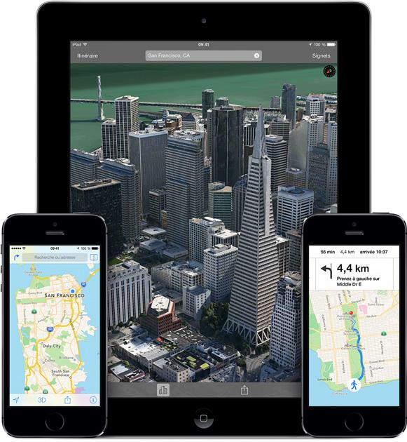 Apple MAPS - Apple Maps : Flyover accueille de nouvelles villes en 3D