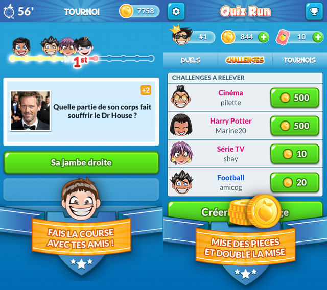 quiz run ios - Quiz Run : un amusant jeu de questions entre amis
