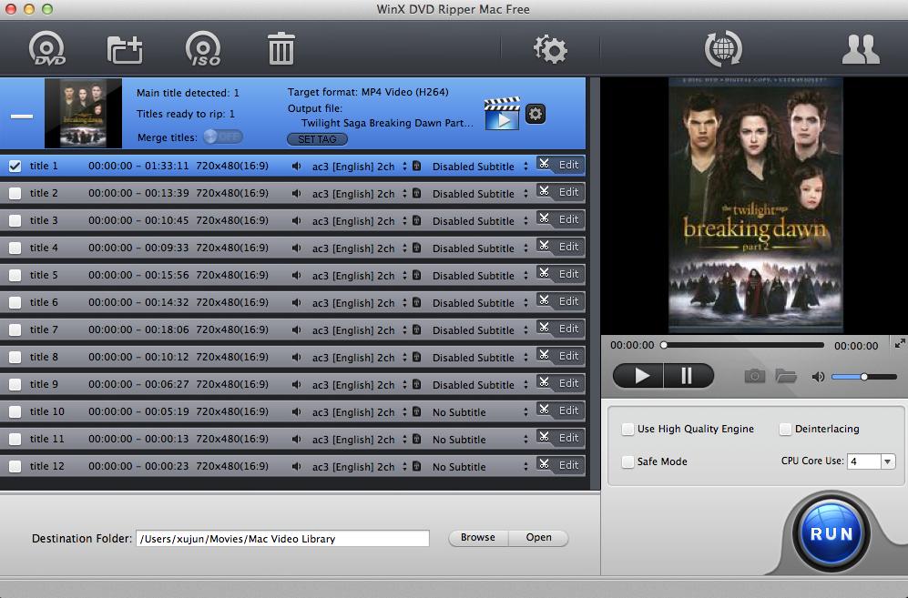 winx dvd ripper free mac - WinX DVD Ripper : sauvegarder & encoder ses DVD vidéo sur Mac