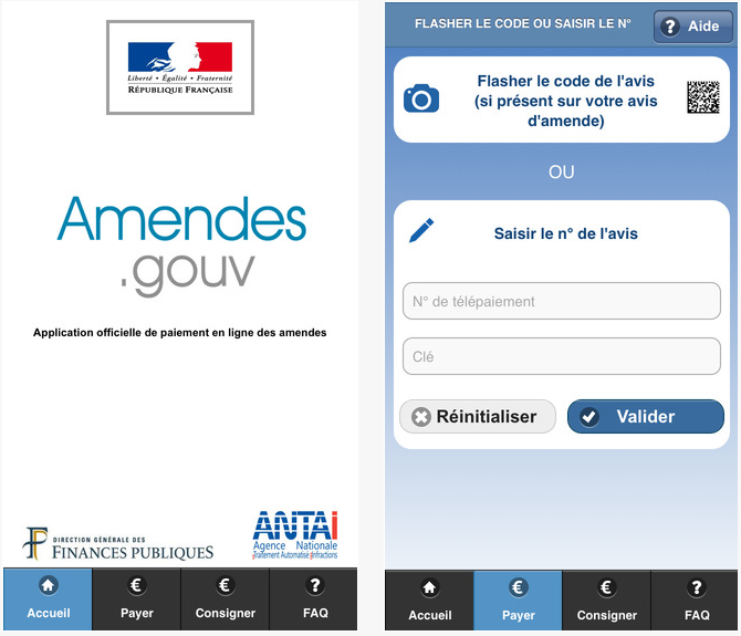 Amendes gouv iPhone - Amendes.gouv : payer ses PV sur iPhone & iPod Touch