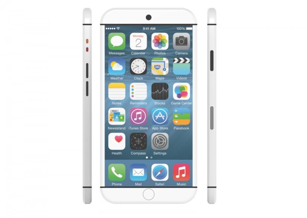 Concept iPhone 7 blanc 1024x726 - Concept : un iPhone 7 sans bouton physique