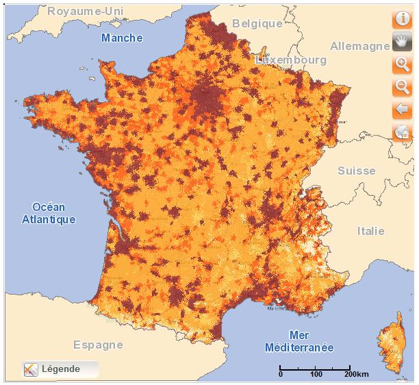 Couverture Orange France 4G janvier 2015 - Orange couvre 74% de la population en 4G