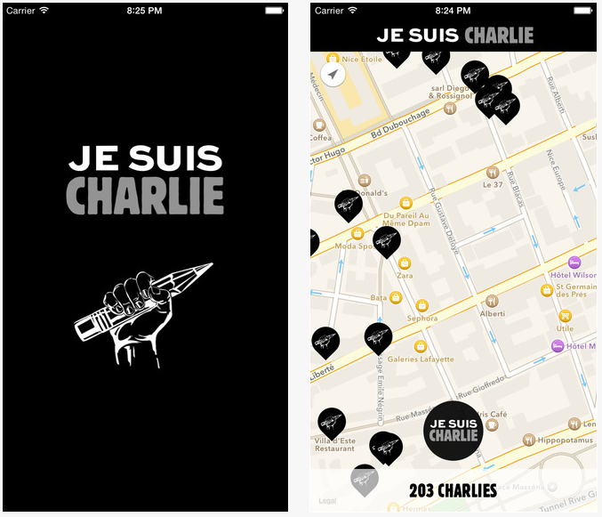 Je suis charlie iphone - « Je suis Charlie » : l'application disponible sur l'App Store