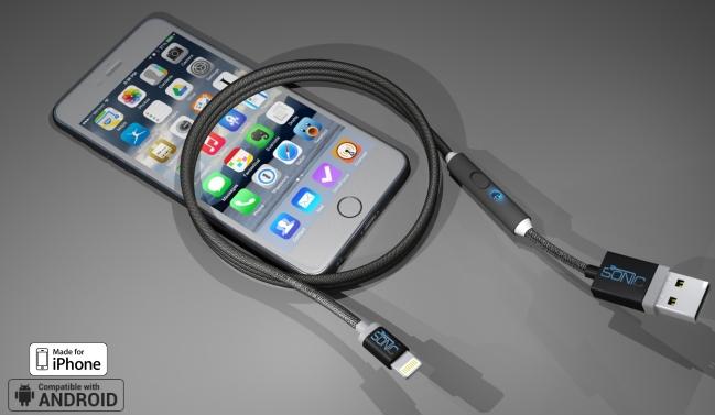 SONICable - SONICable : un câble lightning qui recharge l'iPhone 2 fois plus vite