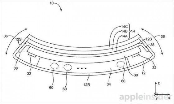 iPhone flexible brevet 1 - Apple : nouveau brevet d'iPhone flexible