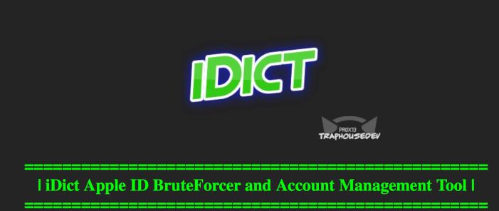 idict - iDict : un outil pour pirater iCloud par Brute Force