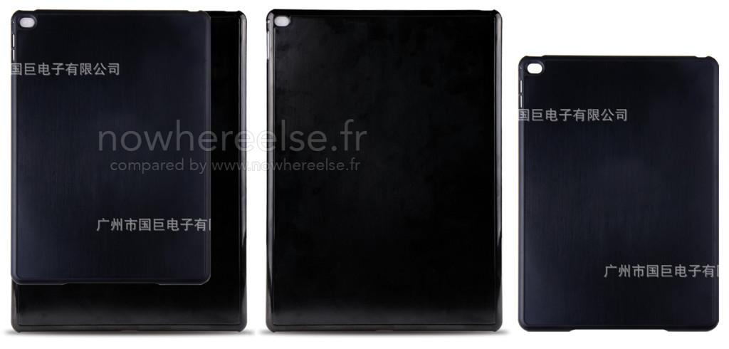 Coque iPad Pro vs iPad Air 2 1024x490 - iPad Pro : nouvelles photos d'une coque de protection