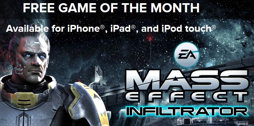 Mass Effect Infiltrator gratuit - Mass Effect Infiltrator gratuit un mois sur iPhone et iPad