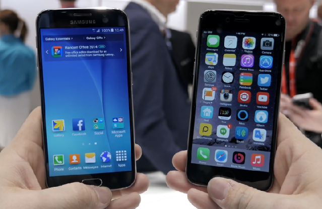 Galaxy S6 vs iPhone 6 - iPhone 6 vs Galaxy S6 : vidéo comparative
