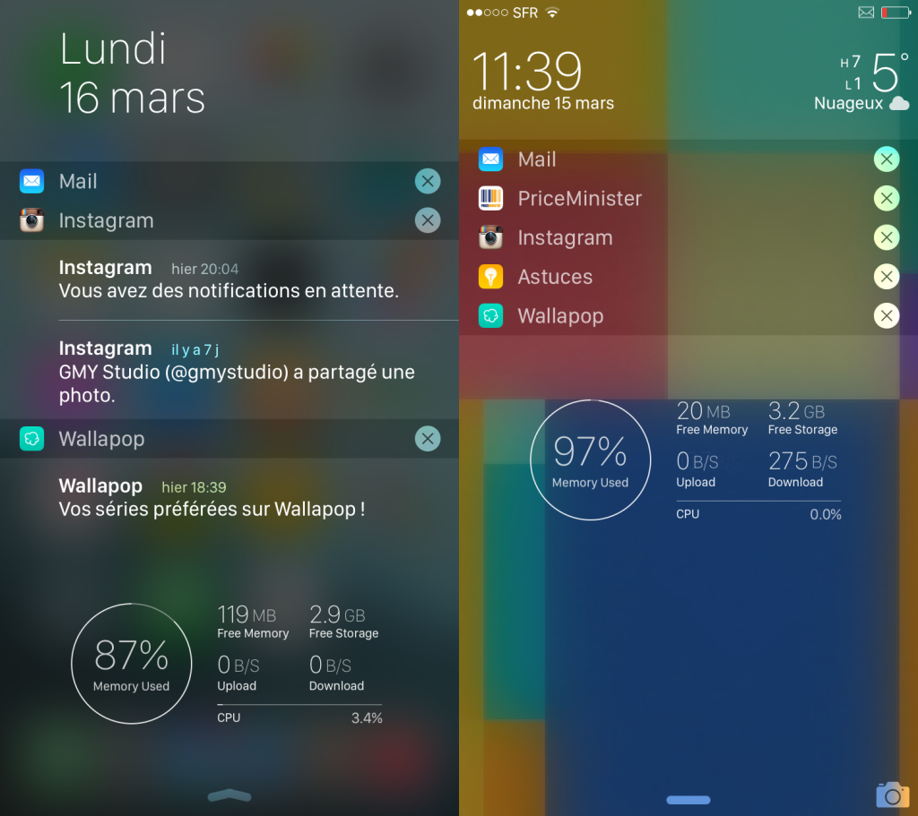 LockInfo iOS 8 1024x911 - Cydia : LockInfo 8 améliore le LockScreen et le Notification Center (iOS 8)