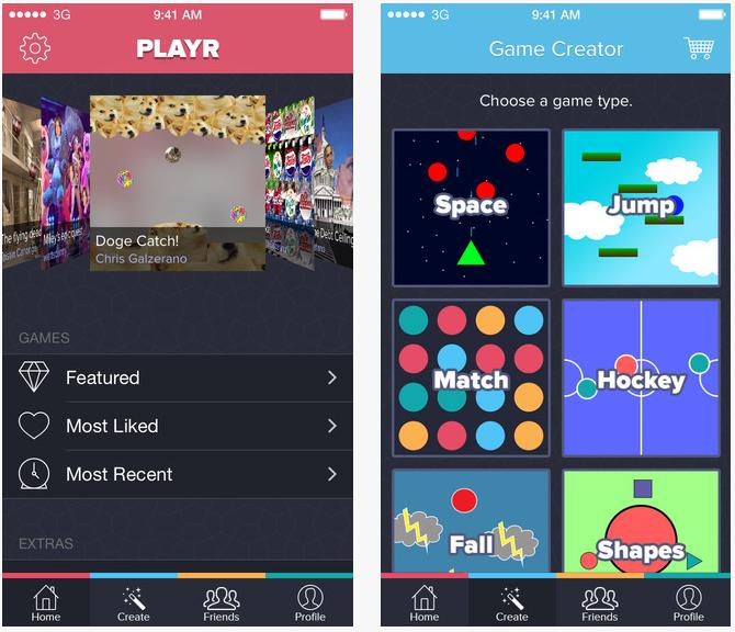 Playr iPhone - Playr : créer des jeux sur iPhone en quelques minutes