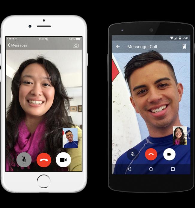 Facebook Messenger appels video - Facebook Messenger ajoute les appels vidéo sur iPhone & iPad