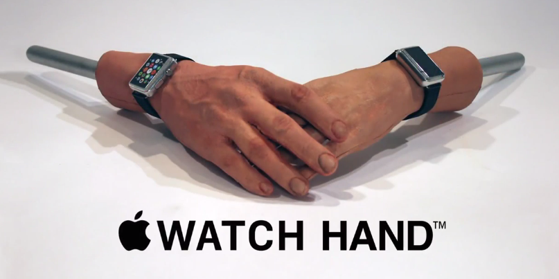 Apple Watch hand Conan - Humour : utiliser l'Apple Watch quand on a des tatouages