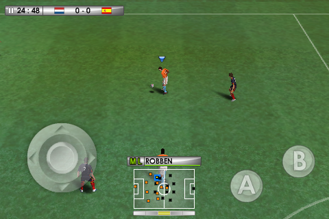 IMG 0029 - Worldissmall teste PES 2010 sur iPhone !