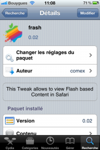 IMG 0026 200x300 - [TUTO] Flash sur iPhone enfin dispo : Frash