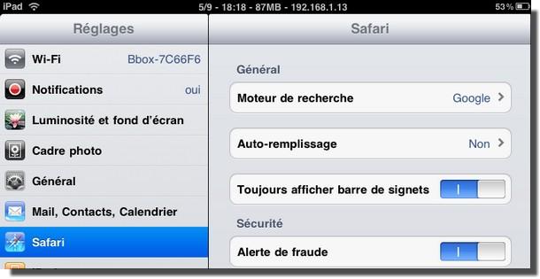 bookmark1 - iPad : une barre de signets dans Safari