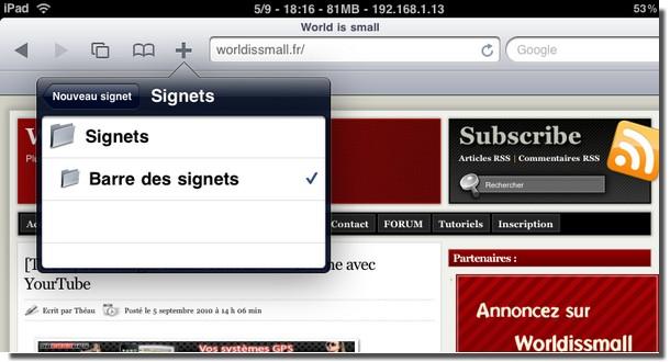 Worldismall le site de référence pour l'iphone, l' itouch et l'IPAD